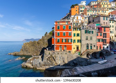 villages of the Cinque Terre, on the Ligurian coast, in Italy