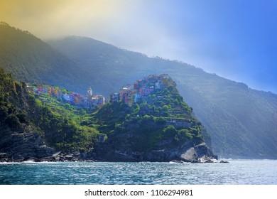 Villages on coast of La Spezia province in Luguria, Italy
