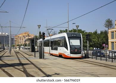 VILLAJOYOSA. SPAIN. 15 JUNE 2011 :  Railway station in Villajoyosa. Province of Alicante. Spain