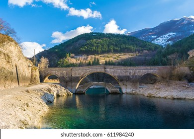 Villalago (Abruzzo, Italy) - A charming little medieval village in the province of L'Aquila, situated in the gorges of Sagittarius, between Lake Scanno and Lago San Domenico, with bridge of sanctuary
