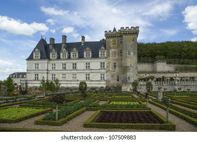 Villandry chateau and its garden, Loire Valley, France ---one of the most beautiful gardens in all France