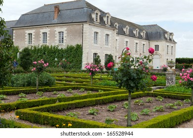 VILLANDRY, FRANCE - JUNE 24, 2013: Villandry chateau and its garden,--one of the most beautiful gardens in all France - Shutterstock ID 165528944