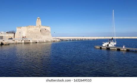 Villanova harbour, Apulia, Salento in winter