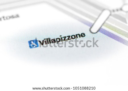 Villapizzone Station Milan Metro Map Stock Photo Edit Now