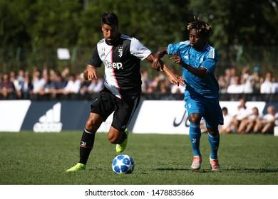 Villar Perosa (Torino) - Italy. 14th August 2019. Pre-season friendly match Juventus A and Juventus B.  Sami Khedira of Juventus FC .