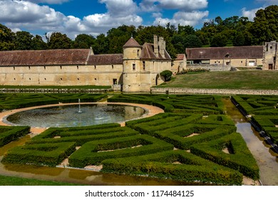 VILLARCEAUX, FRANCE - AUGUST 22ND, 2018. The two Castles of Villarceaux is located at Chaussy, in the Val-d'Oise, has 65 km of Paris. The Castles of the xiii and xviii is in a park of 70 ha closed.