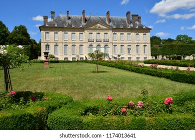 Villarceaux; France - july 28 2018 : the historical castle