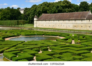 Villarceaux; France - july 28 2018 : the historical castle