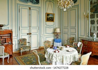 Villarceaux, France - june 9 2019 : the historical castle