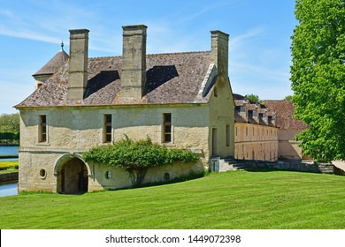 Villarceaux, France - may 15 2019 : the historical castle
