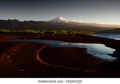 Villarica, the most famous volcano of Chile