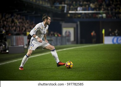 VILLARREAL, SPAIN - FEBRUARY 26: Gareth Bale during La Liga match between Villarreal CF and Real Madrid at Estadio de la Ceramica on February 26, 2017 in Villarreal, Spain