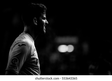 VILLARREAL, SPAIN - JANUARY 8: Musacchio during La Liga soccer match between Villarreal CF and FC Barcelona at Estadio de la Ceramica on January 8, 2016 in Villarreal, Spain