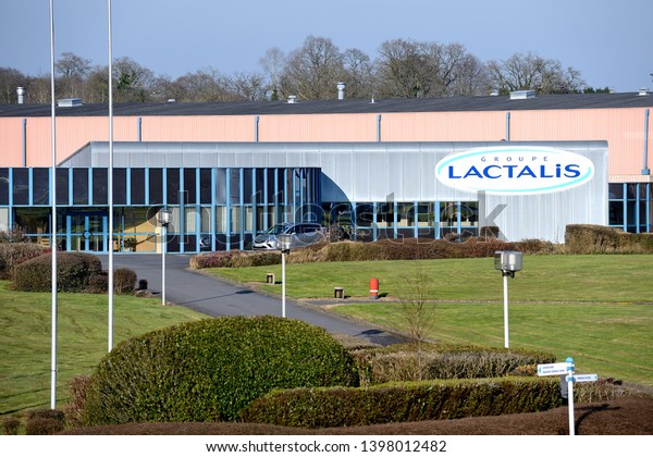Villedieu les Poêles, France, April 2015. Production plant of Lactalis in  Normandie. Trade names  : Président , Lepetit, Chaussée au moines