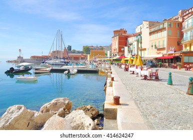 Villefranche sur Mer at French Riviera near Cannes and Nizza,Cote d`Azur,South of France