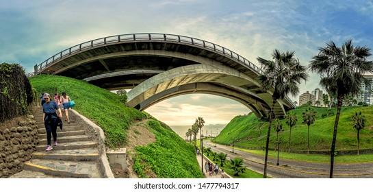 Villena Bridge and down Balta to the beach MIraflores. February 17, 2019 Lima Peru