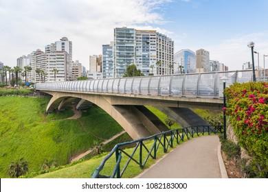 Villena Rey bridge in Miraflores district in Lima, Peru