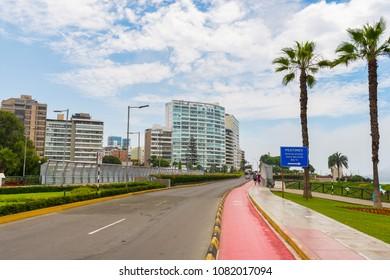 Villena Rey bridge on a sunny day in Lima Peru