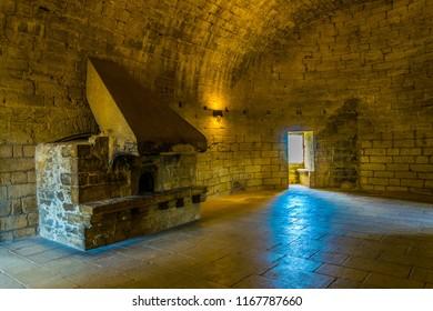 VILLENEUVE LES AVIGNON, FRANCE, JUNE 22, 2017: Interior of Fort Saint Andre in Avignon, France