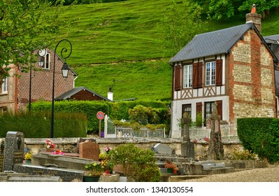 Villequier; France - may 11 2017 : the picturesque village in spring