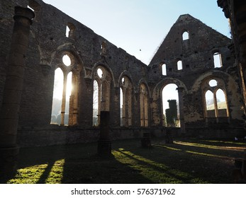 Villers Abbey on a cold winter morning.