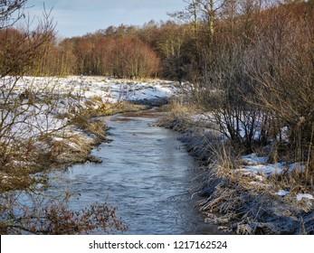 Villestrup River in winter