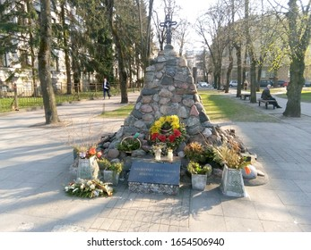 Vilnius, 04/23/2019: memorial to the victims of the Soviet occupation
