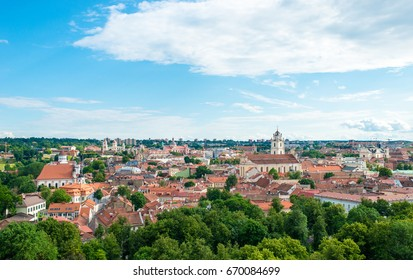 Vilnius cityscape in a beautiful summer day, Lithuania