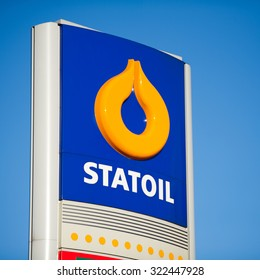 VILNIUS - FEB 17: Statoil petrol station logo on Feb. 17, 2015 in Vilnius, Lithuania. Statoil ASA is a Norwegian multinational oil and gas company with operations in thirty-six countries.