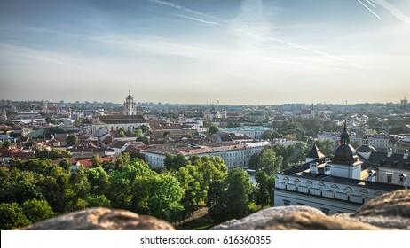 Vilnius from Gediminas tower, Lithuania