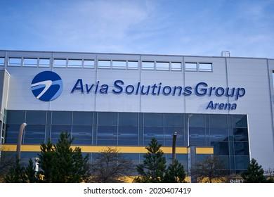 Vilnius, Lithuania - 03 03 2021: Avia solutions groups sports arena in Vilnius