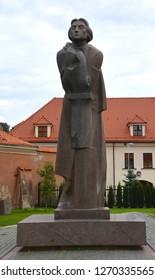 VILNIUS LITHUANIA 09 09 15: Adam Mickiewicz Polish poet, dramatist, essayist, publicist, translator, professor of Slavic literature, and political activist national poet in Poland, Lithuania & Belarus