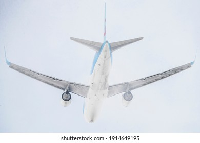 Vilnius, Lithuania 2021-02-11 TUI Airways Boeing 767-300ER airplane (G-OBYH)