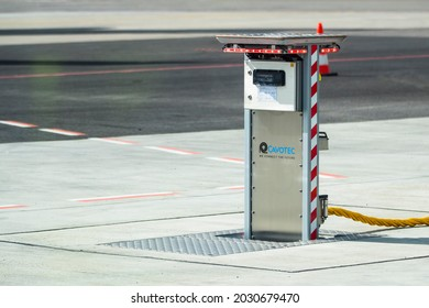 Vilnius Lithuania 2021-08-24 Cavotec Airport Ground Power Units