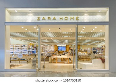 Vilnius, Lithuania - 24 September 2019: Zara Home Store in Vilnius. Zara Home is a company belonging to the Spanish Inditex group dedicated to the manufacturing of home textiles.