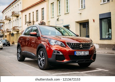 Vilnius, Lithuania - April 19, 2018: Peugeot 3008 Is A Compact Crossover Suv Manufactured By French Automaker Peugeot.