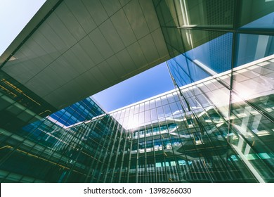 VILNIUS, LITHUANIA - APRIL 28, 2019: DC Pier office is one of the five Danske Bank buildings, which are in the neighbourhood of Zverynas. The modern six-story office was opened in 2018