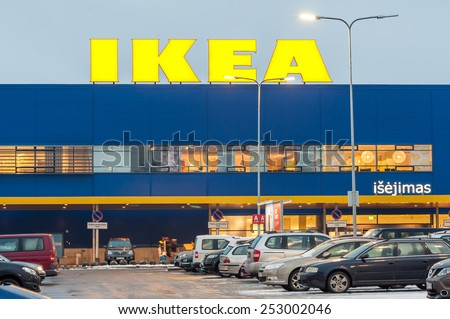 VILNIUS, LITHUANIA - FEB 07: IKEA Store on February 7, 2015 in Vilnius, Lithuania. The company is the world's largest furniture retailer. Founded in Sweden in 1943 by 17-year-old Ingvar Kamprad.