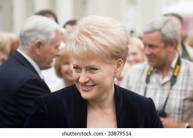 VILNIUS, LITHUANIA - JULY 12: Lithuania's new President Dalia Grybauskaite during inauguration ceremony and celebration on July 12, 2009 in Vilnius, Lithuania