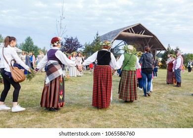 Vilnius / Lithuania - June 23-24 2017 Saint Jonas' or Dew Holiday Festival (Rasos svente, Jonines, Midsummer Day or Saint John's Day) is a midsummer folk festival celebrated on June 24.