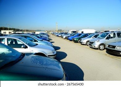 VILNIUS, LITHUANIA - MARCH 17:  Market of second hand used cars in Vilnius city on March 17, 2015, Vilnius, Lithuania.