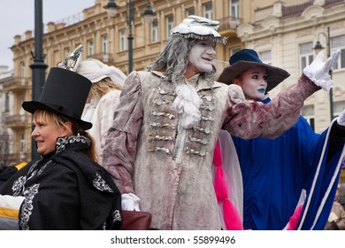 VILNIUS, LITHUANIA - MARCH 7: Theatrical procession during annual traditional crafts fair - Kaziuko fair on Mar 7, 2009 in Vilnius, Lithuania.