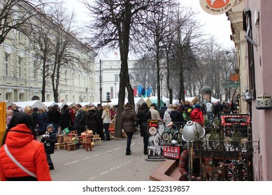 VILNIUS, LITHUANIA - MARCH 8: the annual traditional crafts fair - Kaziukas fair on MARCH 8, 2016, Vilnius, Lithuania.