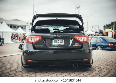 Vilnius / Lithuania - May 11, 2019: AutoBazar, exhibition in Litexpo square, Subaru Impreza WRX STI