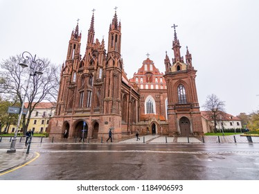 Vilnius, Lithuania - May 12 2018: Vilnius, the capital of Lithuania