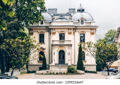 VILNIUS, LITHUANIA - MAY 14, 2019: The Institute of Lithuanian Literature and Folklore is a state research institute, implementing long-term academic research programs in the fields of old Lithuanian.