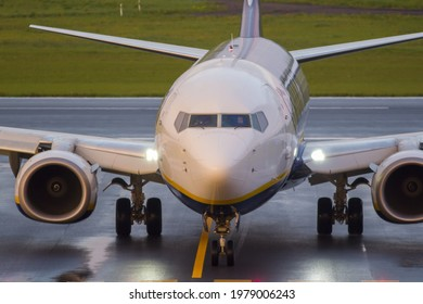 VILNIUS, LITHUANIA – MAY 23, 2021. Ryanair Boeing 737-800 SP-RSM Landing from Minsk after hijack. Ryanair flight FR4978 from Athens to Vilnius, was forcibly diverted to Minsk in Belarus
