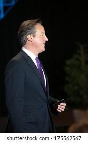VILNIUS, LITHUANIA - NOV. 29: British Prime Minister David Cameron during Eastern Partnership Summit in Vilnius. November 29, 2013 in Vilnius, Lithuania.