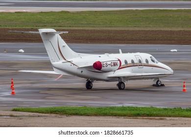 Vilnius, Lithuania - October 06, 2020: ES-CMK, NEXTANT 400XTI, Fort Aero
