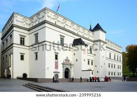 dc2cabe210 VILNIUS, LITHUANIA - OCTOBER 12: Palace of the Grand Dukes of Lithuania in  Vilnius